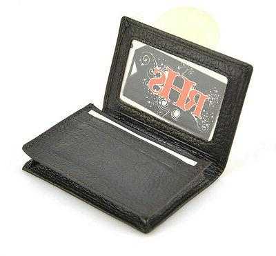 Genuine Leather Name ID Holder Case