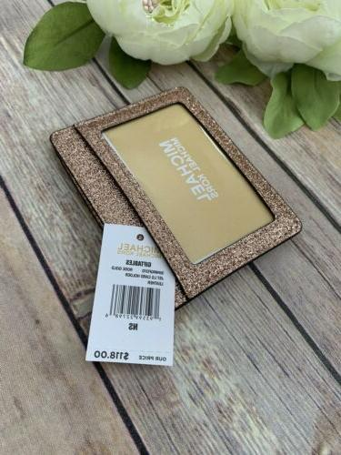 Michael Kors Card Holder Gold NWT