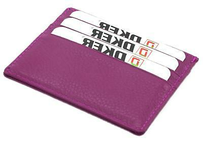 DKER Handmade Unisex Slim Card With ID Card -