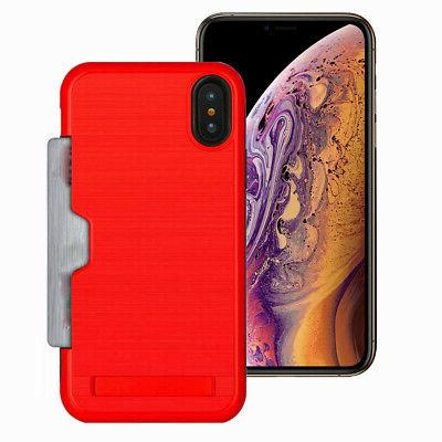 Hidden Credit Card with Stand iPhone 8 7 6s 6 Plus XS XR
