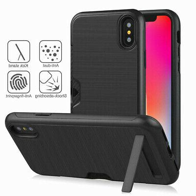 Hidden Credit with Stand Case For iPhone 7 6 Plus XS MAX XR X