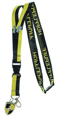 Harry Potter Hufflepuff Lanyard With 3D Metal Charm ID Card