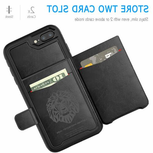 Hybrid Card Holder Phone Case with Cover iPhone 6s 7