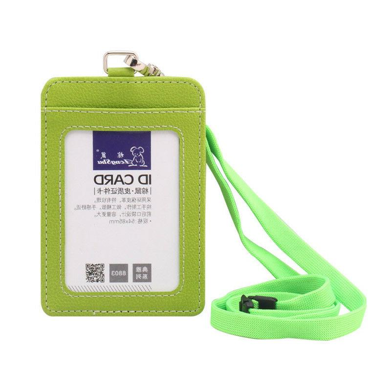 ID Badge Pu Vertical Neck Case