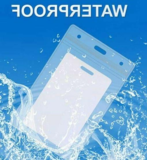 ID Card Holder Clear Plastic Badge Business