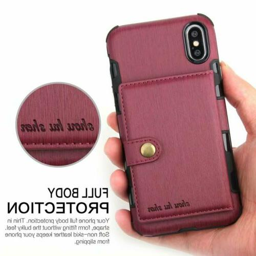 For Pro XS MAX/ XR 6 8 Wallet Leather Holder