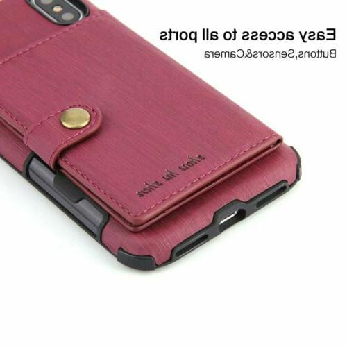 For Pro XS 6 8 Plus Wallet Case Holder Cover