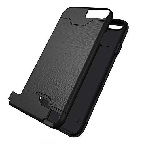 iPhone Phone Glass Card Stand Silicone Protective for iPhone6 iPhone6s i-Phone S6 6a i6s Women Girls Black