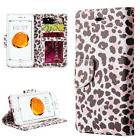 iPhone 7 / 8 - PINK LEOPARD SPOTS Card ID Wallet Diary Pouch