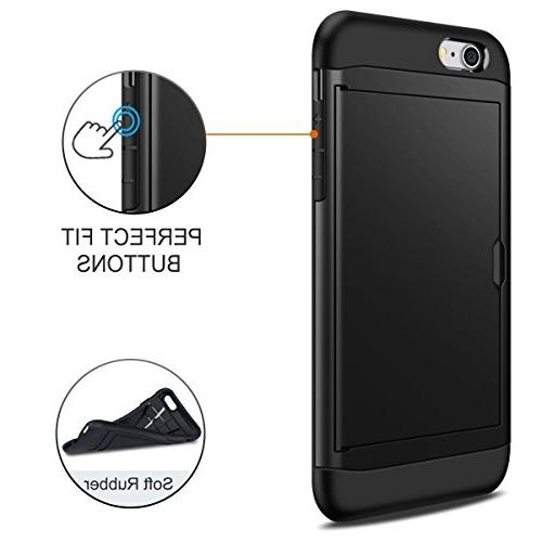 SAMONPOW 8 iPhone Case,Hybrid iPhone 8 Wallet Card Holder Protection Shockproof for