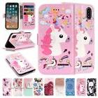 For iPhone Unicorn Pattern Card holder Phone case Wallet PU