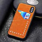 For iphone x 6s 8 7 Plus Slim PU Leather Wallet Card Slot Ho