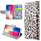 for iPhone X - Lady Leopard Credit Card ID Wallet Diary Pouc