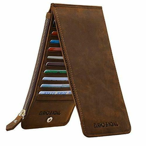 Jack&Chris Leather Multi Card Organizer Wallet Credit Card H