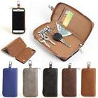 KeyChain Organizer Bag Leather Card Holder Wallet Case Cover