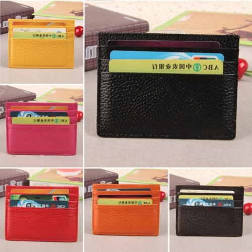 Mens ID Credit Purse Leather Case