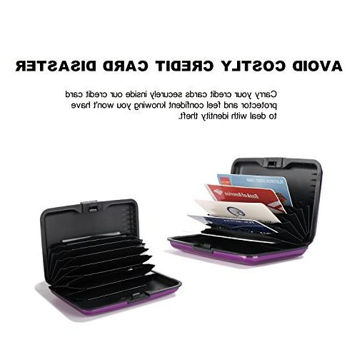 Latest Aluminum RFID Credit Men & Stylish Best for your Bank Debit, ID, - Cool Slim Business 90 Money Back Guarantee