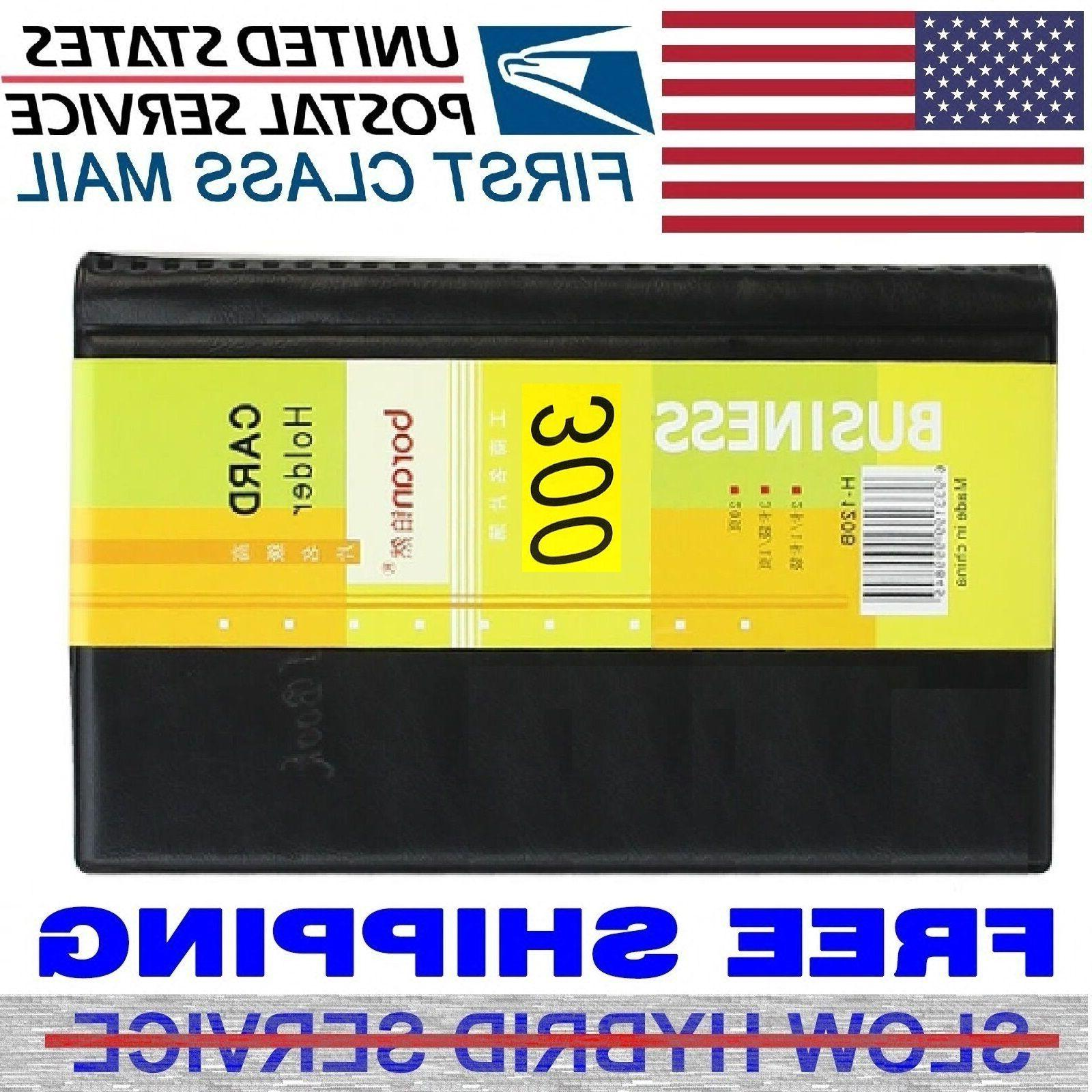 Leather Cards Business Name Credit Holder Organizer