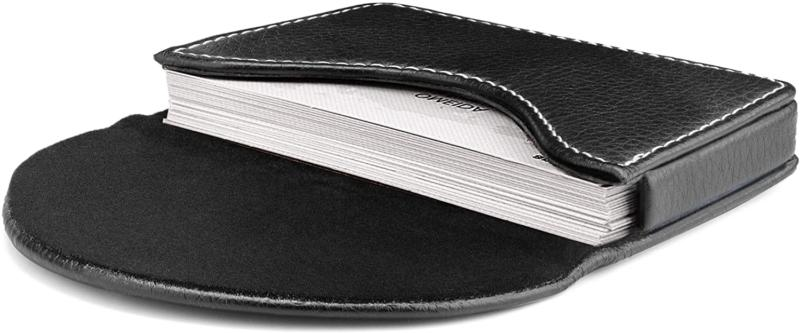leather business card holder case with magnetic