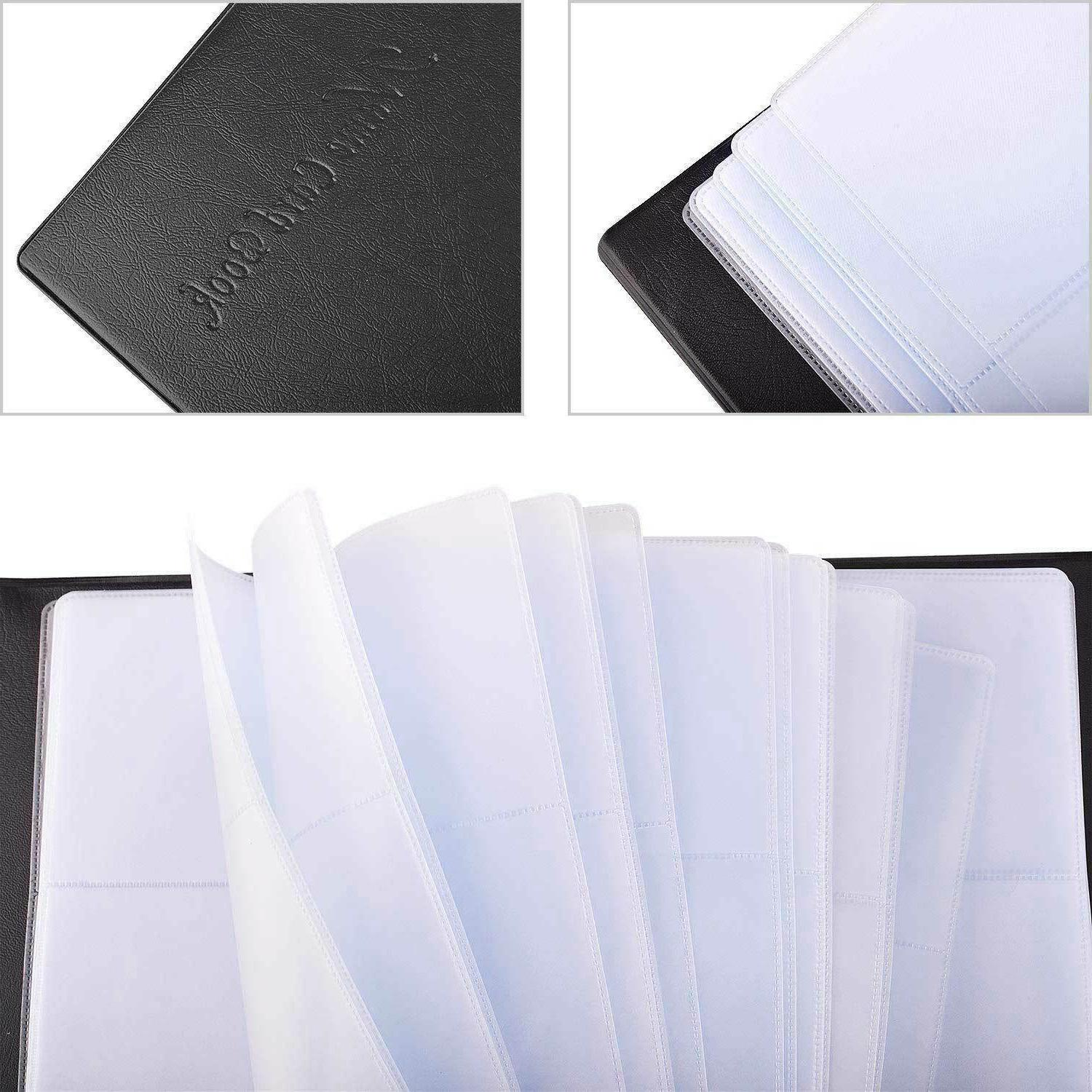 Leather Business Cards Holder Case Name ID Keeper
