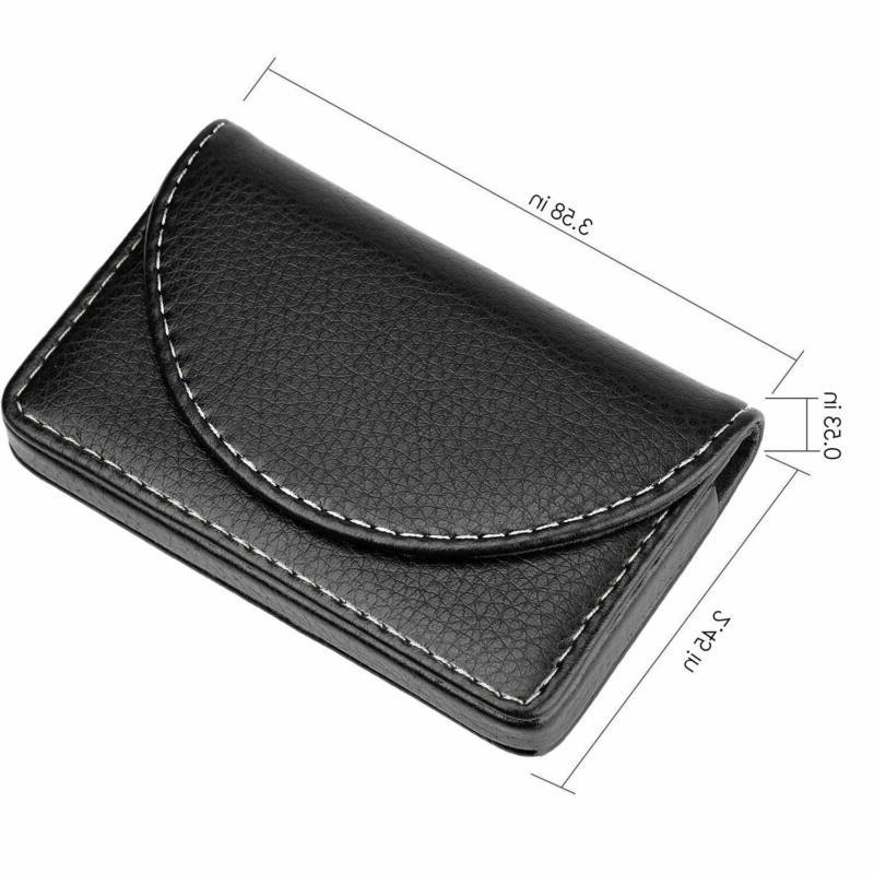 MaxGear Leather Credit Holder Case Magnetic