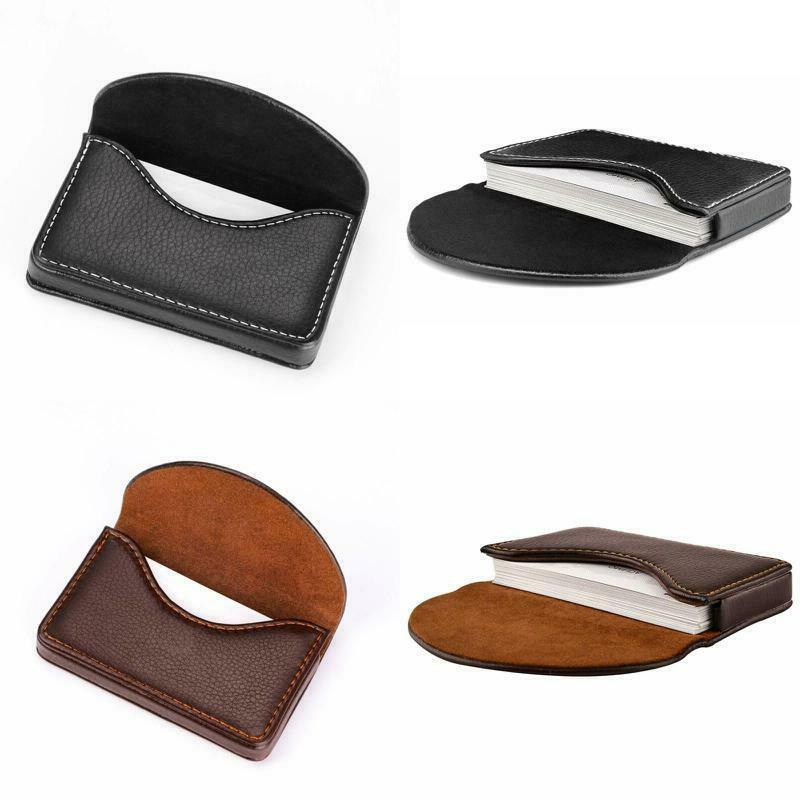 leather business id credit card holder case