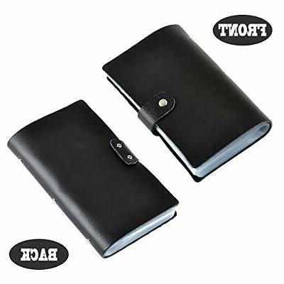Leather Business ID Case Book 90 Count Name