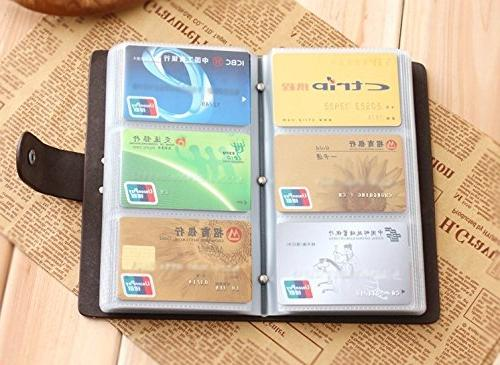 Boshiho Leather Holder ID Card Case Book Count Name Card Book