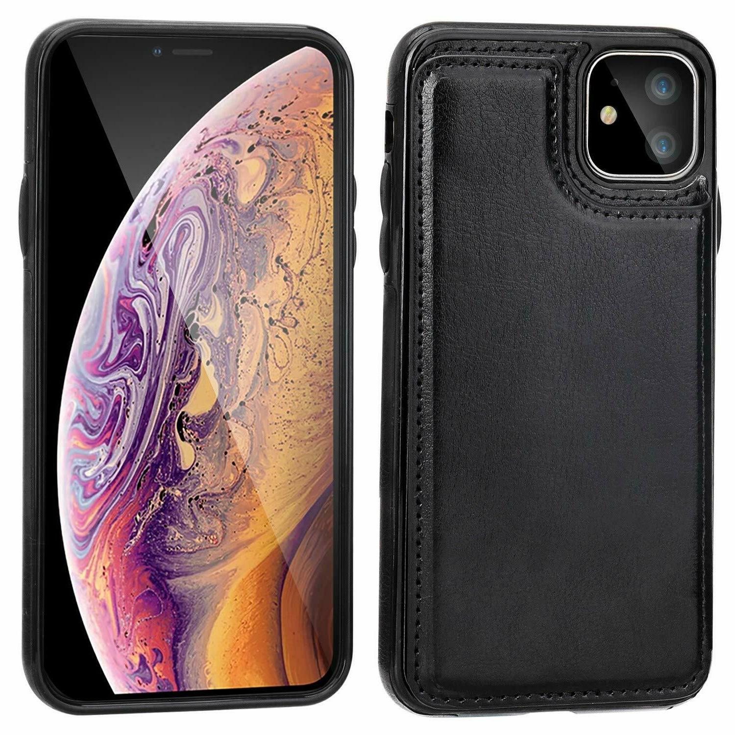 Leather Card Holder Case Cover Apple iPhone 11 Pro Max