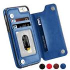 Leather Flip Wallet Card Holder Case Cover For iPhone XR 7 8