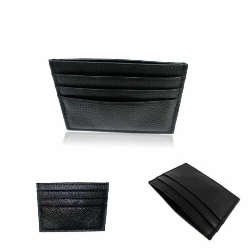 Leather Id Card Wallet Holder Slim US