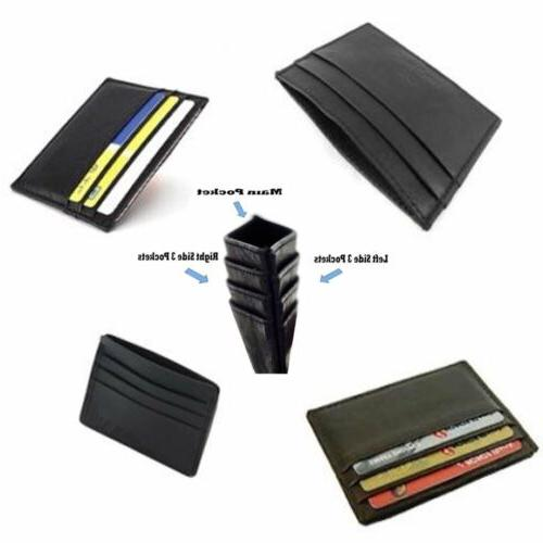 Leather Men's Womens Id Credit Card Wallet US