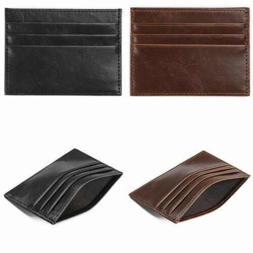 Leather Men's Id Credit Holder