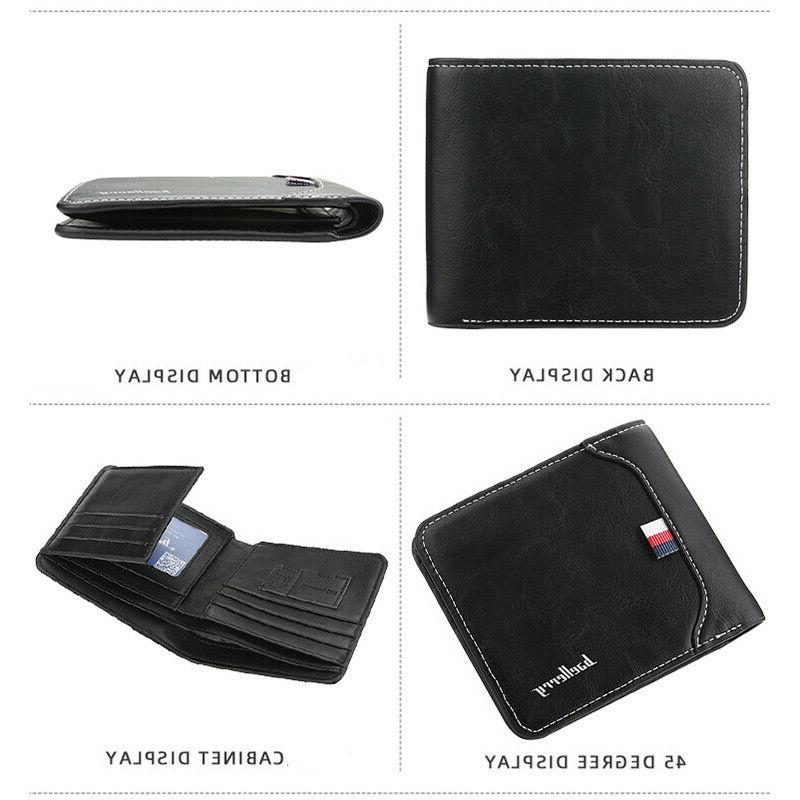 Leather Bifold Credit ID Holder Slim Coin