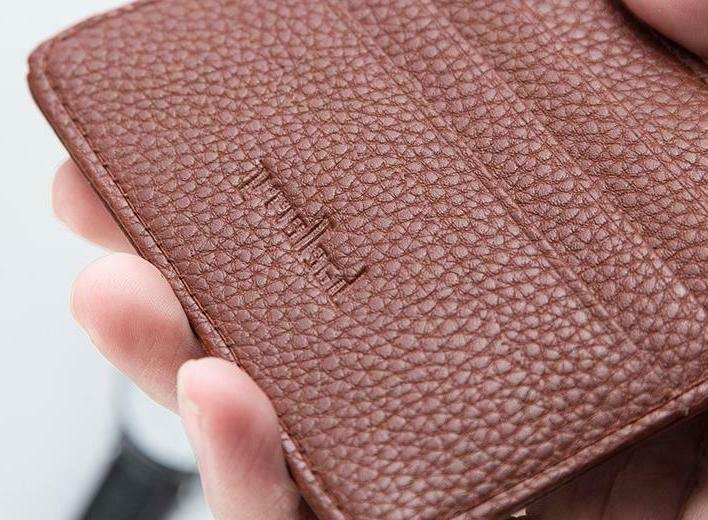 Leather Slim Flat Front Wallet