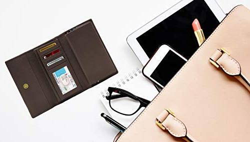 Leather Trifold Clutch For Women RFID Checkbook Gifts For
