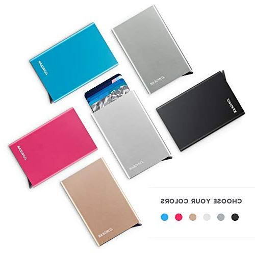 Lungogo Credit Holder Slim Wallet Front Pocket Card Automatic Pop Design Aluminum Holds 5 Card