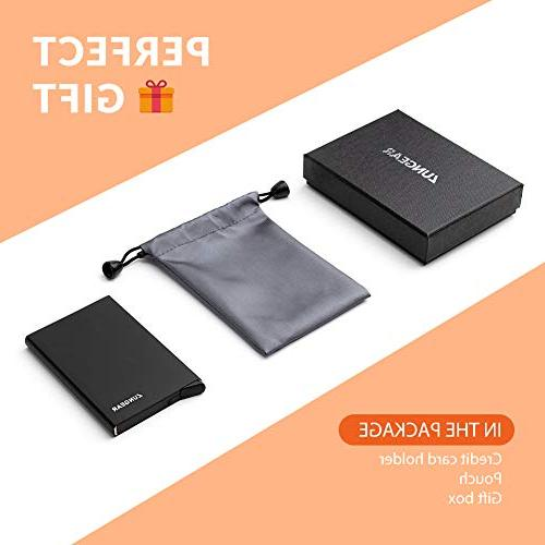 Lungogo RFID Holder Front Automatic Design Aluminum Holds Card