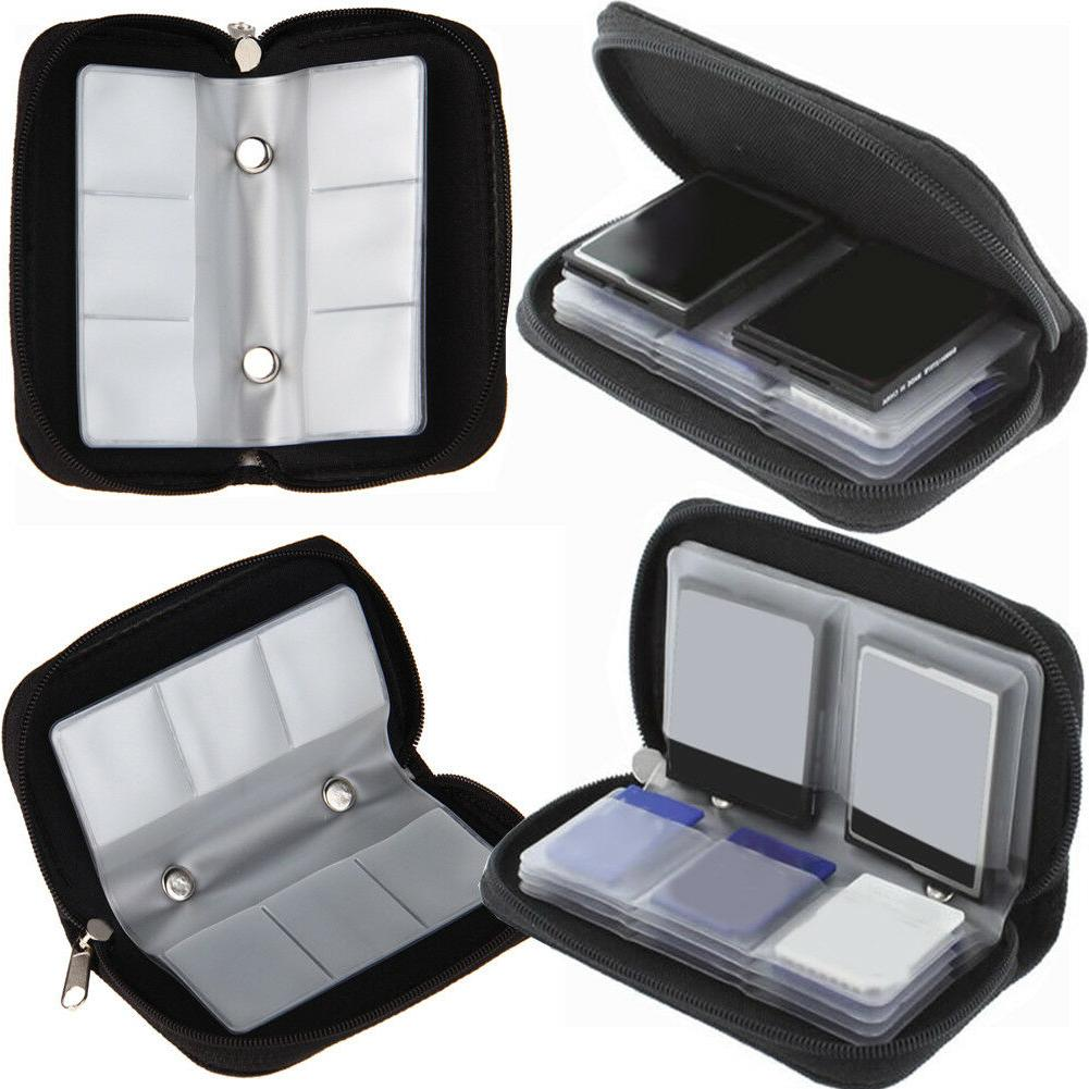 Memory Card Storage Carrying Case Holder Wallet For CF/SD/SD