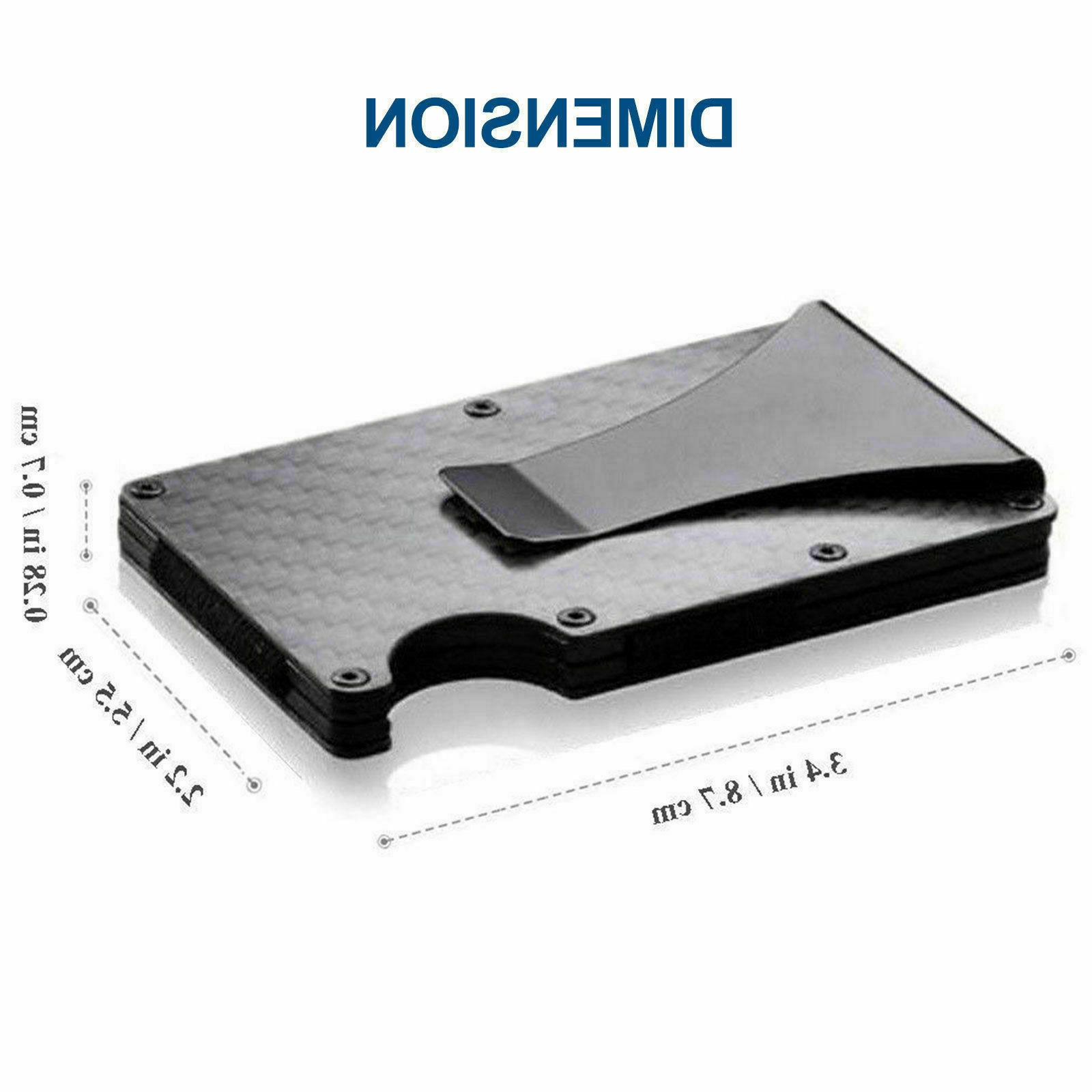 Men Credit Card Wallet RFID Blocking Slim Fiber