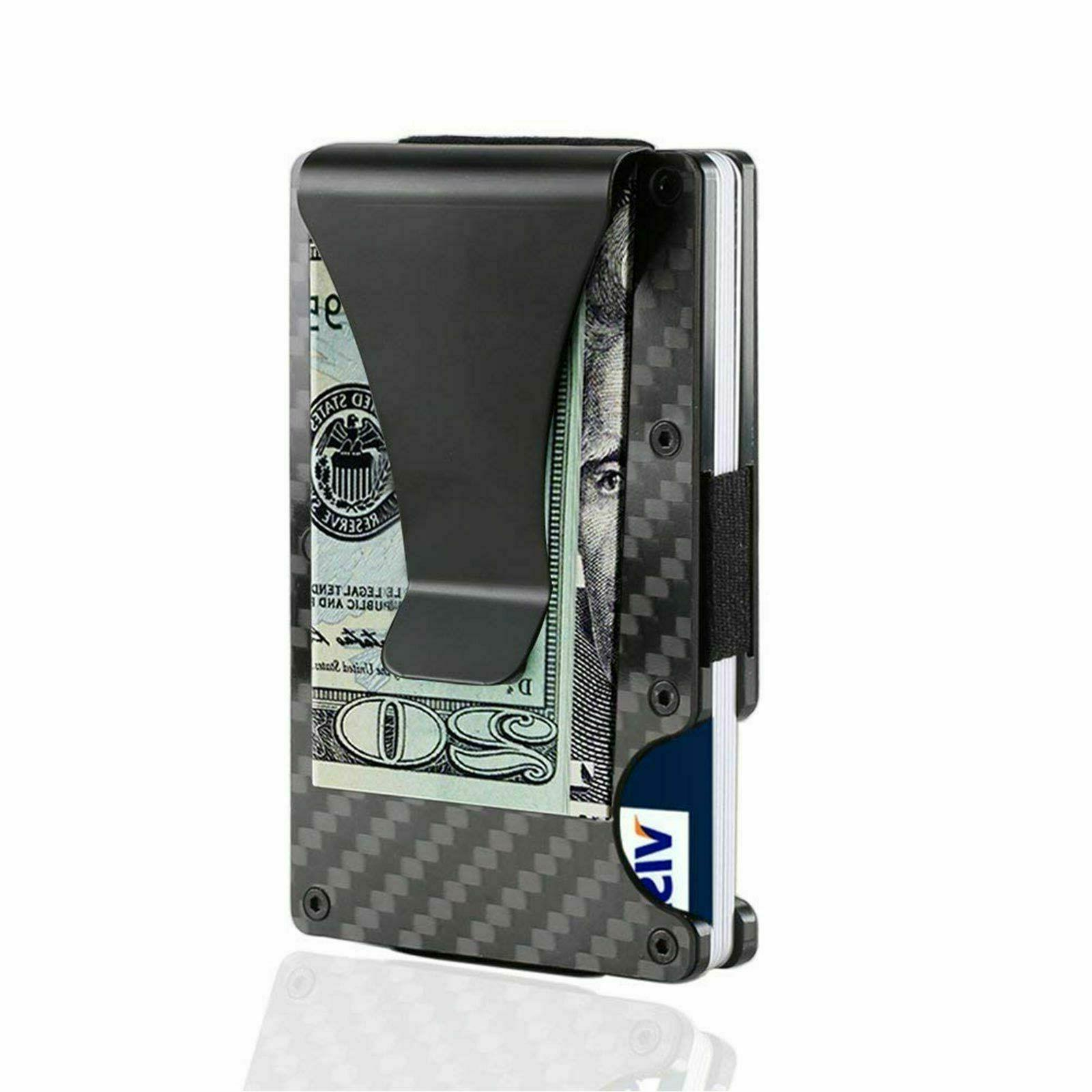 Men Blocking Slim Money1 Card ID Holder Minimalist