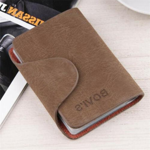 Men Credit Leather Wallet Slots