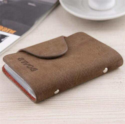 Men Business Credit Holder Leather Wallet Slots