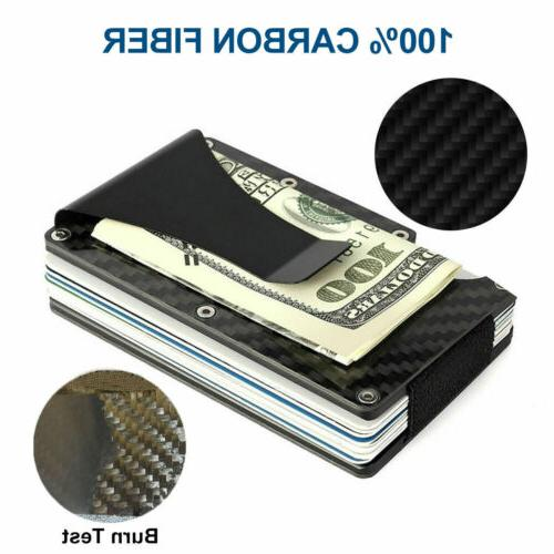 Men RFID Slim Money Clip Card ID Holder Minimalist