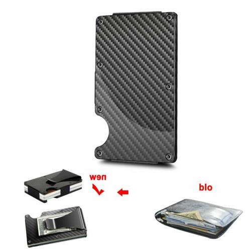 Men RFID Blocking Slim Money Wallet Card Minimalist
