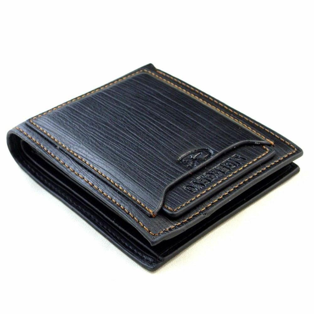 Men's Fashion Leather Card ID Coin Clutch