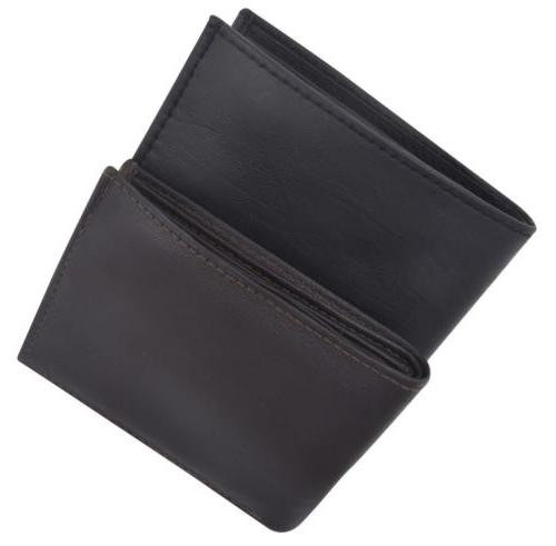 Men's Multi 2 Flaps Bifold Wallet