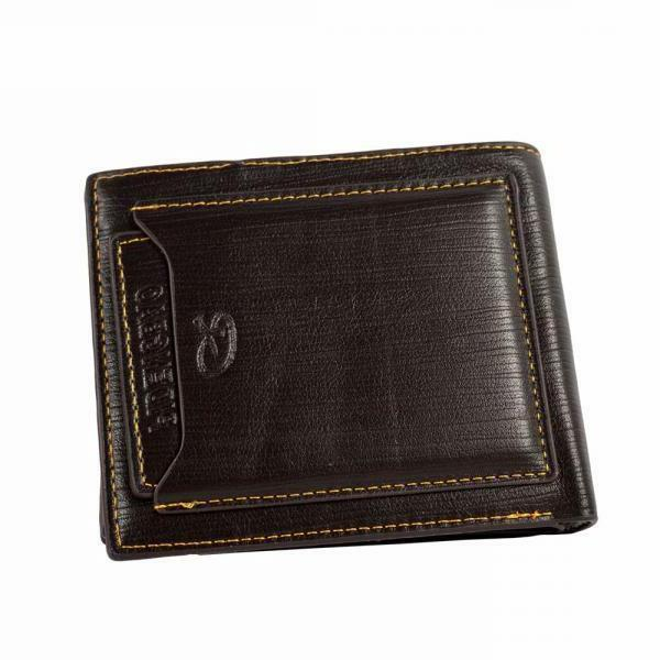 Men's Leather Card Holder ID Cash Coin Purse Clutch