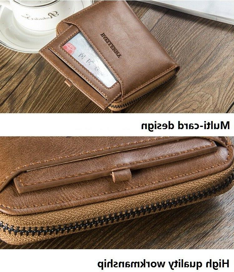 Men's ID Card Wallet with Purse