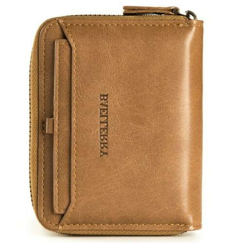 men s leather bifold credit id card